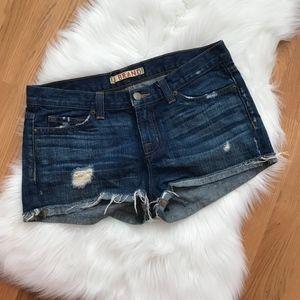 J. Brand Mako Ripped Frayed Shorts